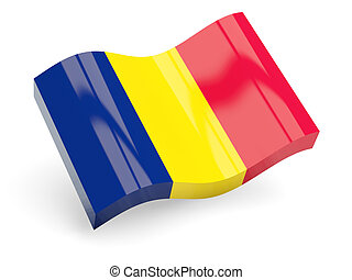 3d flag of chad