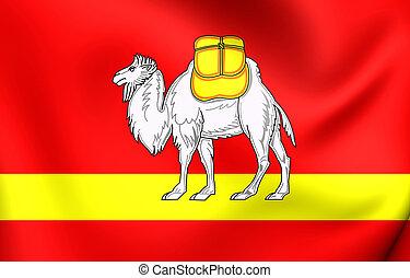 Flag of Chelyabinsk Oblast, Russia.
