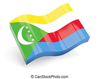 3d flag of comoros
