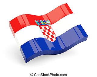 3d flag of croatia