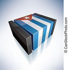 3D flag of Cuba