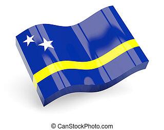 3d flag of curacao