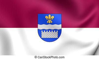 Flag of Daugavpils City, Latvia.