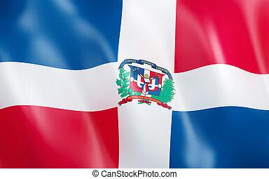 3D Flag of Dominican Republic.