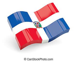 3d flag of dominican republic