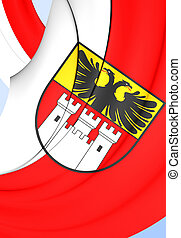 Flag of Duisburg City, Germany.