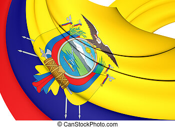 3D Flag of Ecuador. 3D Illustration.