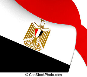 3D Flag of Egypt. 3D Illustration.