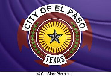 Flag of El Paso (Texas), USA. - 3D Flag of El Paso (Texas),...