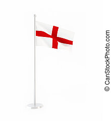 3D flag of England