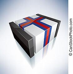 3D flag of Faroe Islands