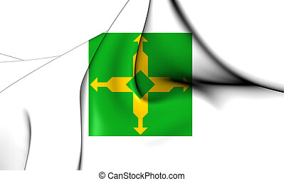 Flag of Federal District, Brazil. - 3D Flag of Federal ...