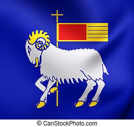 Flag of Gotland County, Sweden. - 3D Flag of Gotland County,...