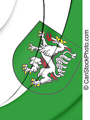 Flag of Graz (Styria), Austria. - 3D Flag of Graz (Styria),...