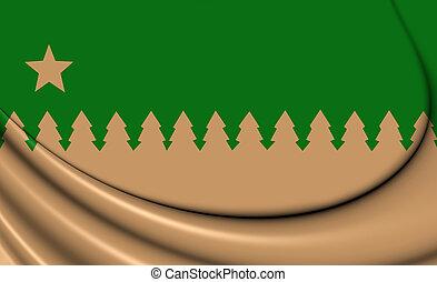 Flag of Greater Sudbury (Ontario), Canada.