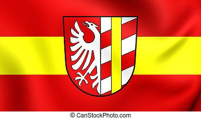 Flag of Gunzburg Landkreis, Germany. - 3D Flag of Gunzburg...