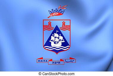 Flag of Haifa City, Israel.