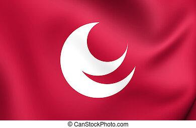 Flag of Hiroshima Prefecture, Japan.