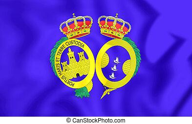 Flag of Huelva Province, Spain.