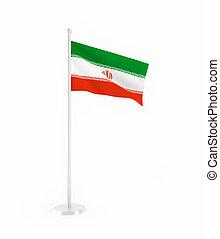 3D flag of Iran
