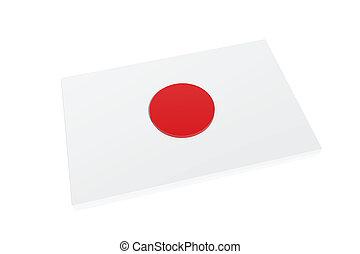 3D Flag of Japan