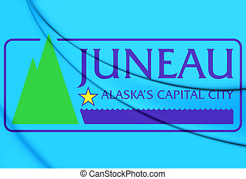 Flag of Juneau, Alaska. - 3D Flag of Juneau, Alaska. 3D ...