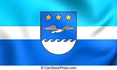 Flag of Jurmala, Latvia.