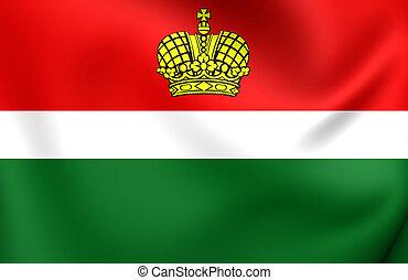 Flag of Kaluga Oblast, Russia.