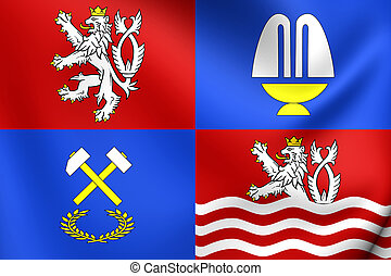Flag of Karlovy Vary Region, Czech Republic.