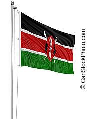 3D flag of Kenya