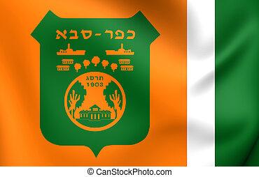 Flag of Kfar Saba City, Israel.