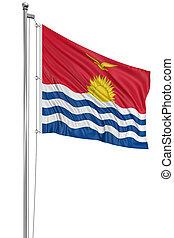 3D flag of Kiribati