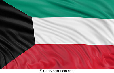 3D flag of Kuwait