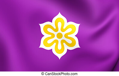 Flag of Kyoto Prefecture, Japan.