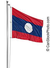 3D flag of Laos