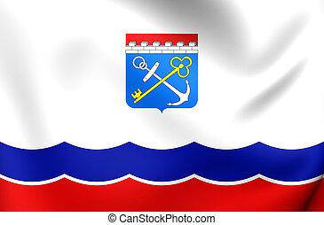 Flag of Leningrad Oblast, Russia.