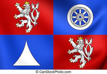 Flag of Liberec Region, Czech Republic.