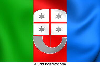 Flag of Liguria Region, Italy.