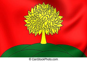 Flag of Lipetsk Oblast, Russia.