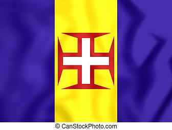 Flag of Madeira, Portugal.