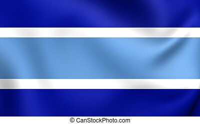 Flag of Marbella City, Spain.