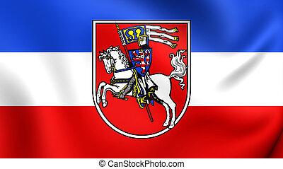 Flag of Marburg City, Germany.