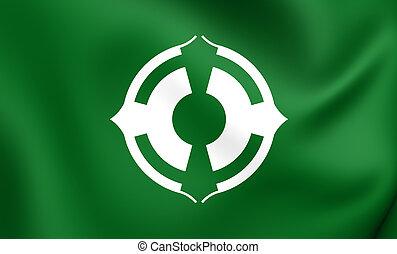 Flag of Matsudo City (Chiba), Japan.