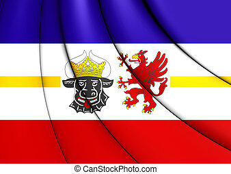 Flag of Mecklenburg-Vorpommern, Germany. - 3D Flag of ...