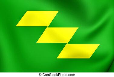 Flag of Miyazaki Prefecture, Japan.