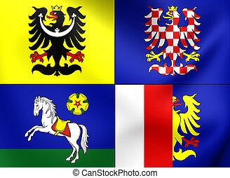 Flag of Moravian-Silesian Region, Czech Republic.