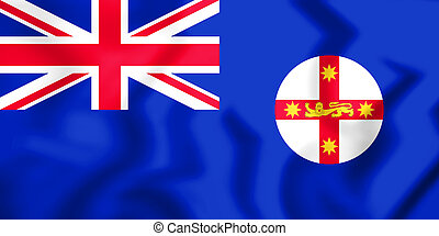 Flag of New South Wales - 3D Flag of New South Wales, ...