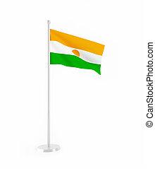 3D flag of Niger
