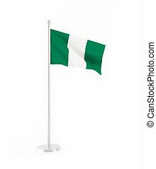 3D flag of Nigeria