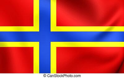 Flag of Orkney (2007), Scotland. - 3D Flag of Orkney (2007),...